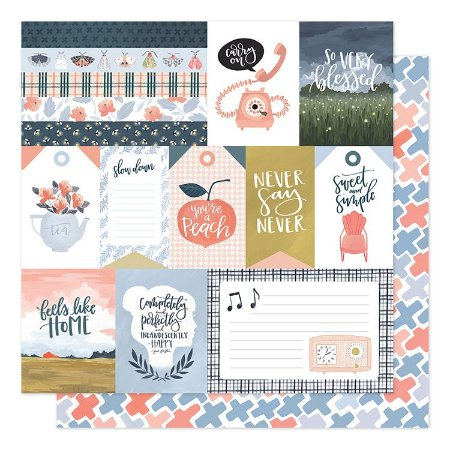 Papel Scrapbook - Twilight - Feels like home - American Crafts