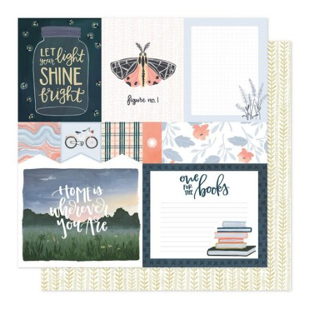 Papel Scrapbook - Twilight - Field Notes - American Crafts