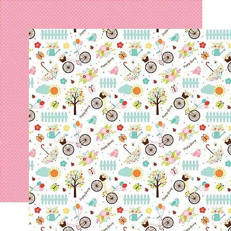 Papel Scrapbook - Hello Spring - Happy Spring - Echo Park