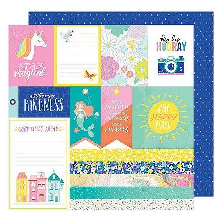 Papel Scrapbook - Dear Lizzy - Stay Colorful - JIve Talkin - American Crafts