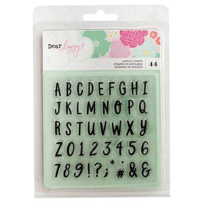 Carimbos de silicone Alfabeto - Dear Lizzy - Stay Colorful - American Crafts