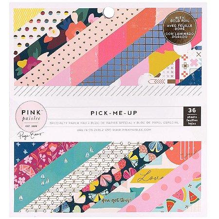 Bloco de papeís scrapbook 15x15 Pick me up - Paige Evans -  Pink Paislee