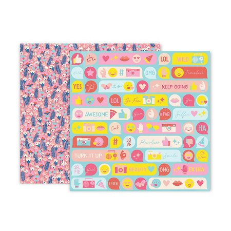 Papel scrapbook 30x30 08 Pick me up - Paige Evans -  Pink Paislee