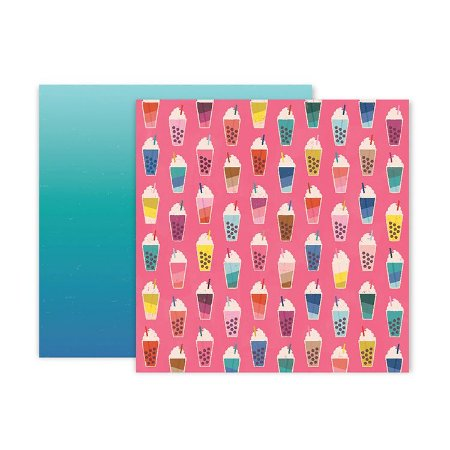 Papel scrapbook 30x30 04 Pick me up - Paige Evans -  Pink Paislee