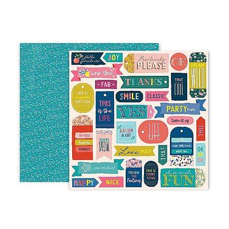 Papel scrapbook 30x30 13 Pick me up - Paige Evans -  Pink Paislee