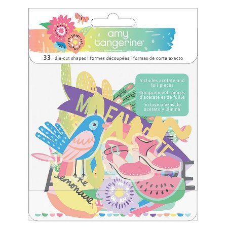 Die cuts em papel e acetato Sunshine and Good Times - Amy Tangerine - American Crafts