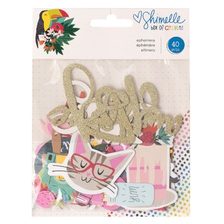 Die cuts em papel e glitter Box of Crayons - Shimelle - American Crafts