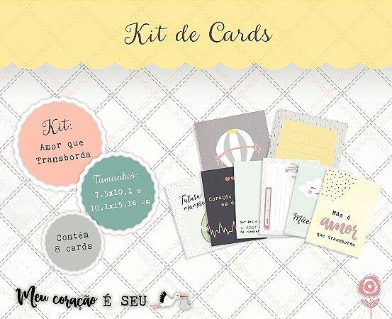 Kit de cards Amor que transborda - Coleção Meu Coração é Seu - Juju Scrapbook