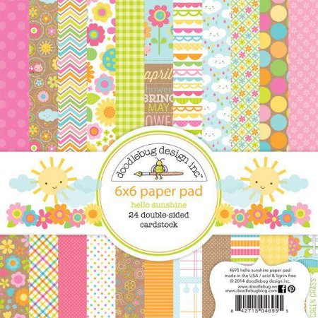 Bloco de papel para scrapbook 15x15 Hello Sunshine - Doodlebug
