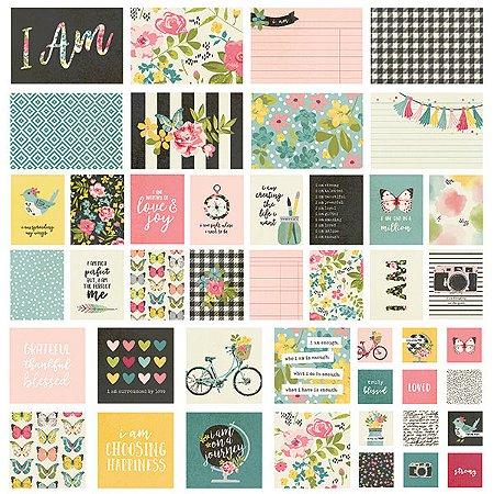 Kit de cards I am com 48 peças Simple Stories
