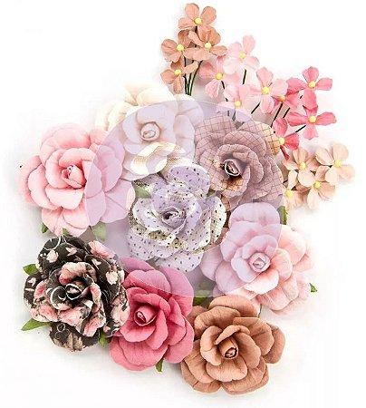 Flores Love & Luck Amelia Rose com 12 peças Prima
