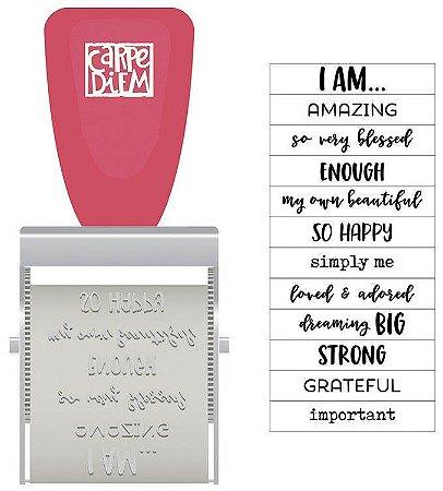 Carimbo rotatório Frases , coleção I Am Simple Stories