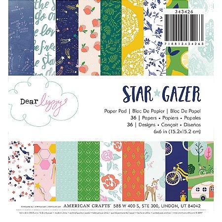 Bloco 15x15 cm, Star Gazer - com 36 folhas, simples face Dear Lizzy