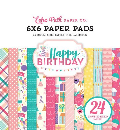 Bloco 15x15 Happy Birthday Girl 24 folhas Echo Park