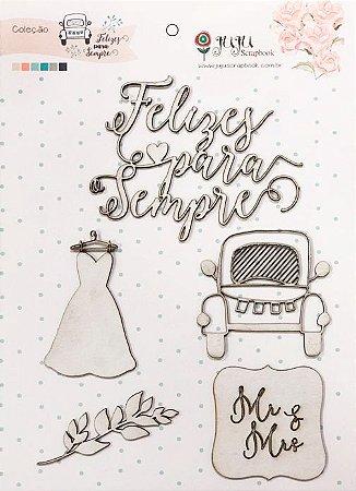 Cartela de Enfeites Coleção Felizes para sempre - Felizes para sempre - Casamento - Juju Scrapbook