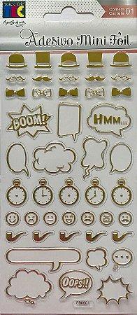 Adesivo Mini Foil Dourado Acessórios Masculinos - TEC