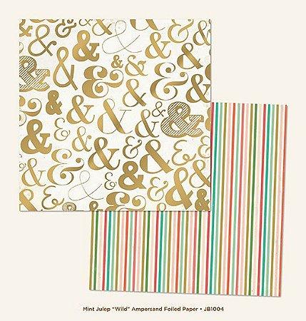 Papel Scrapbook 30x30 - com FOIL dourado - Jubilee - Wild - MME