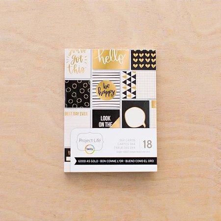 Cards Good as Gold - Foil dourado - Project Life