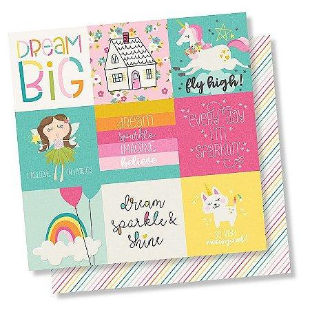 Papel de scrapbook 30x30 Dream Big - 4x4 Elements - Simple Stories