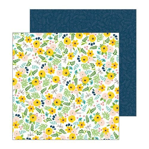 Papel Scrapbook - 30x30 - Patio Party - Backyard Blooms - Pebbles