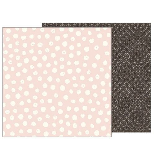 Papel Scrapbook - 30x30 - Heart of Home - Painted Dots  - Pebbles