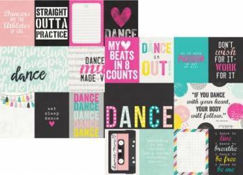 Papel Scrapbook - 30x30 - 3x4 & 4x6 Journaling Card Elements Dance - Simple Stories