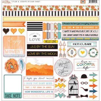 Adesivos 30,5x30,5 cm Stickers Titles & Accents - 77- Glitz