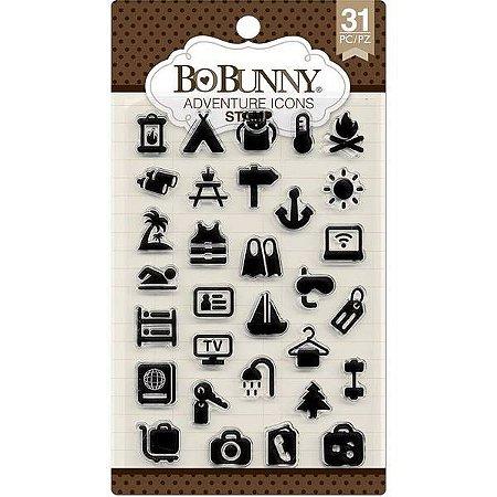 Cartela de carimbos de silicone - Adventure - Bo Bunny