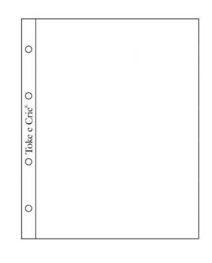 Refil plástico para álbum pequeno Scrap Momentos - Design 1 - Toke e Crie