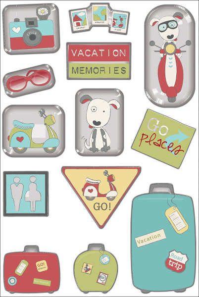 Adesivo Enamel - Sticker Glass - Souvenir - Imaginisce