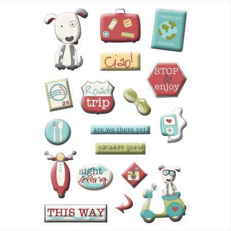 Adesivo Puffs - Adventure - Imaginisce