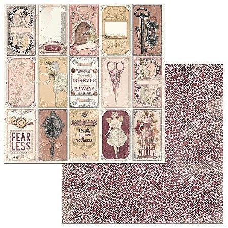 Papel scrapbook 30x30 Charmed - Espelho - Bo Bunny