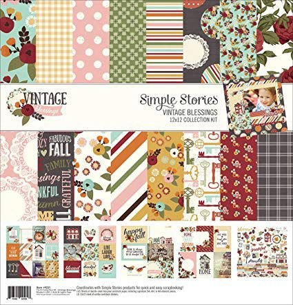 Kit coordenado - Collection Kit - Vintage Blessings 30x30 - Simple Stories