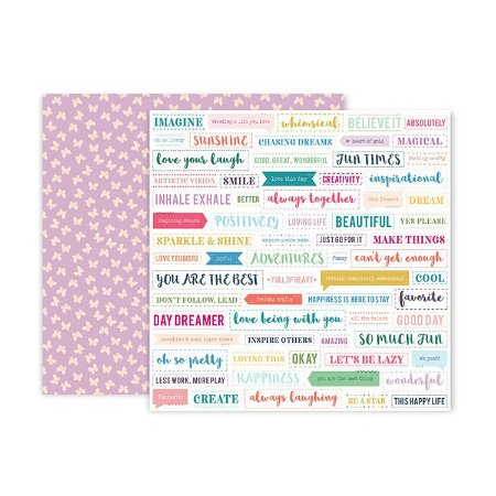 Papel scrapbook 30x30 Whimsical - #18 - Paige Taylor Evans - Pink Paislee