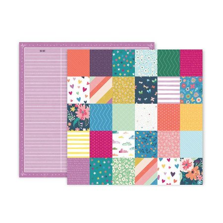 Papel scrapbook 30x30 Whimsical - #19 - Paige Taylor Evans - Pink Paislee