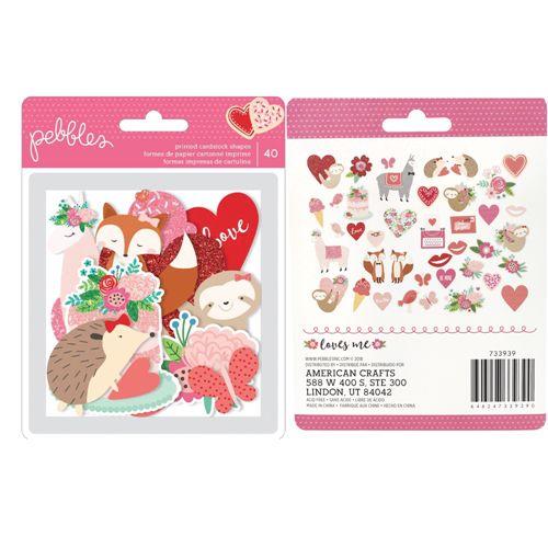 Die cuts Icons - Figuras - Loves me - Amor - Pebbles