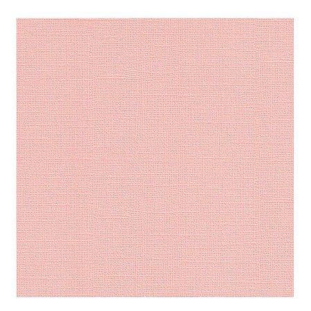 Papel de Scrapbook 30,5x30,5 cm - Cardstock  - Rosa Pastel -  Toke e Crie