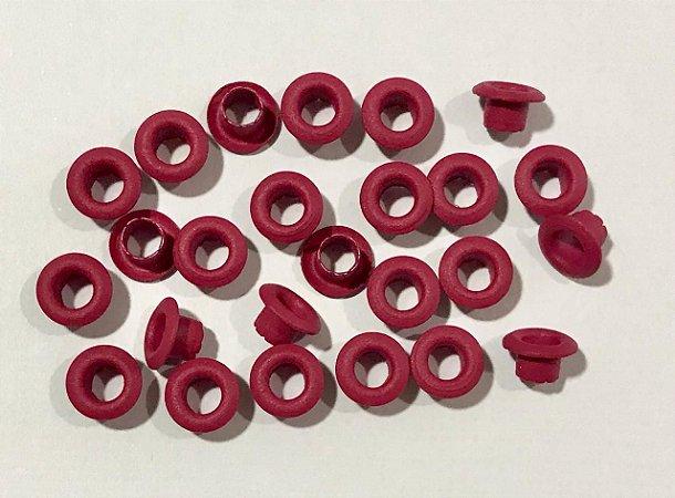 Ilhos de alumínio 3/16 cor Rosa Pink - Importado