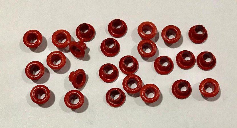 Ilhos de alumínio 3/16 cor Vermelho - Importado