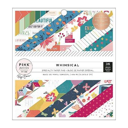 Bloco de papel scrapbook 15x15 Whimsical - Paige Taylor Evans - Pink Paislee