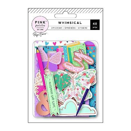 Die cuts 40 peças Whimsical - Paige Taylor Evans - Pink Paislee