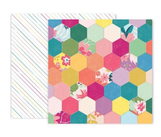 Papel scrapbook 30x30 Whimsical - #5 - Paige Taylor Evans - Pink Paislee