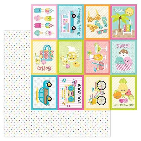 Papel Scrapbook - 30x30,5 - Doodlebug - Sweet Summer -  Summer Sprinkles