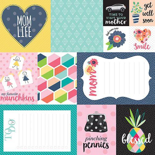 Papel Scrapbook - 30x30,5 -  Mom life - Bella Blvd