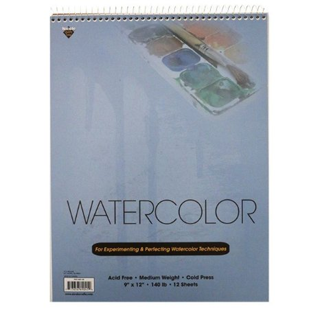 Bloco A4 - papel para aquarela - Watercolor - Nicole Crafts - 12 folhas