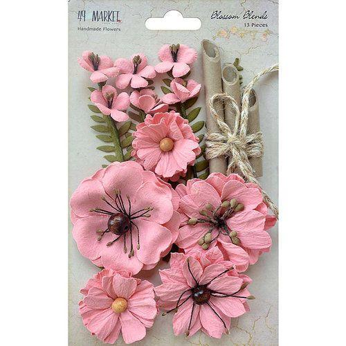 Flores de papel - Rosa - 13 peças - 49 Market