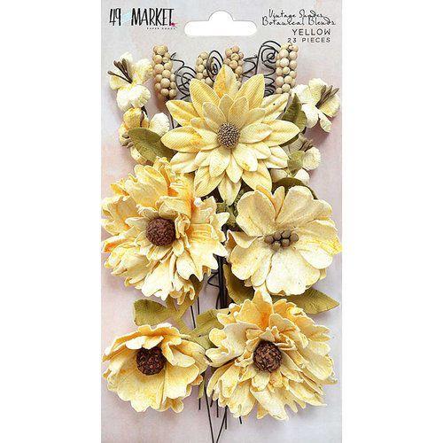 Flores em papel - Amarela - 23 peças - 49Market