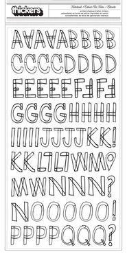 Adesivo Thickers - Alfabeto - Frente e verso - American Crafts