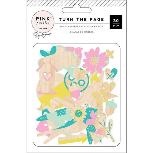 Aplique em MDF - Turn the Page - 30 peças - Pink Paislee