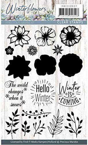 Carimbo de silicone - Winter Flowers - Hello Winter - Precious Marieke
